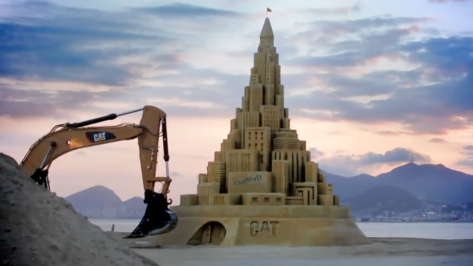 CAT – Sand Castle – Build for it – Hungry Man