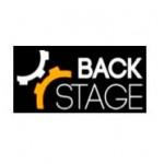 Logotipo da BACK STAGE. Cliente da Peixe Voador.